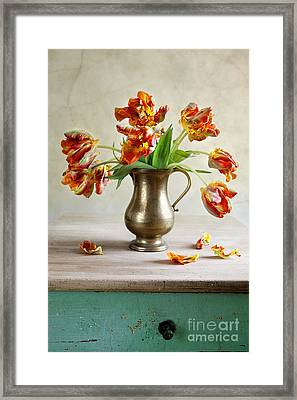 Still Life With Tulips Framed Print