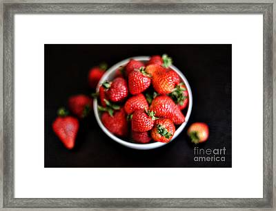 Strawberries Framed Print by HD Connelly