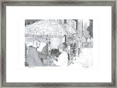Street Eats Framed Print by Larry Oldham