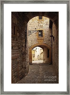 street in Chazay-d'Azergues   Framed Print