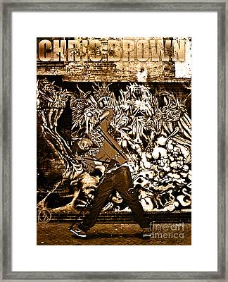 Street Phenomenon Chris Brown Framed Print by The DigArtisT