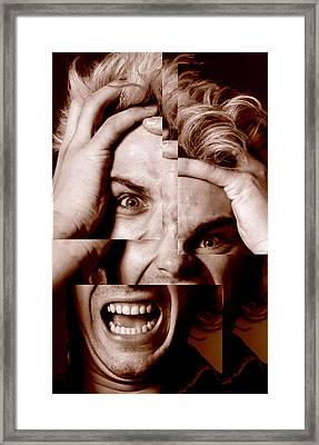 Stressed Man Framed Print by Victor De Schwanberg