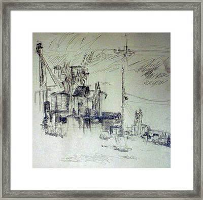 Study For Perspective Drawing Framed Print by Jana Barros