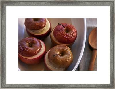 Stuffed Baked Apples Framed Print by Joana Kruse