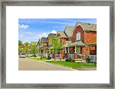 Suburban Homes Framed Print by Elena Elisseeva