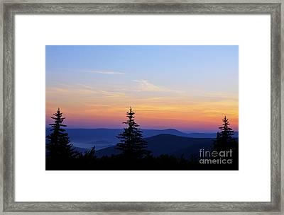Summer Solstice Sunrise Framed Print