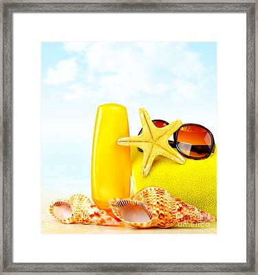 Summertime Holidays Background Framed Print by Anna Om