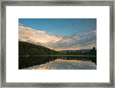 Sunrise Above A Lake On A Wind Still Morning Framed Print by Ulrich Schade