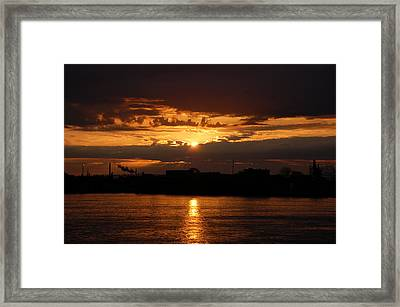 Sunrise Framed Print by Randy J Heath