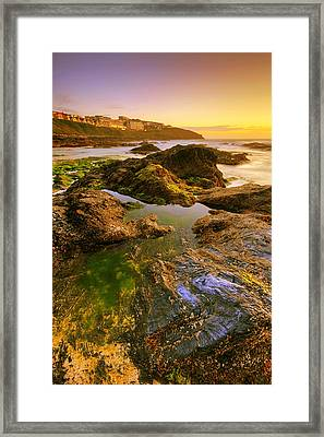 Sunset By The Ocean Framed Print