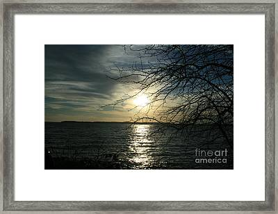 Sunset Chesapeake Bay Framed Print by Valia Bradshaw