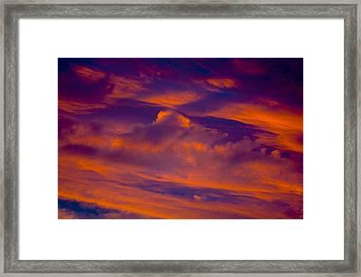 Sunset Cloud Detail Framed Print by Corey Hochachka