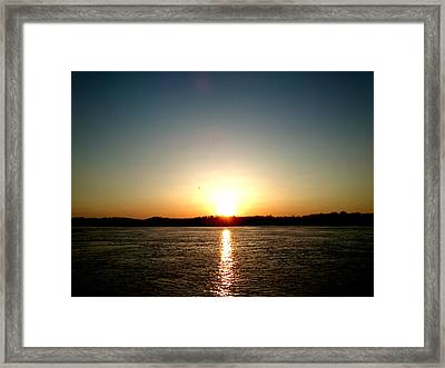 Framed Print featuring the photograph Sunset by Lucy D
