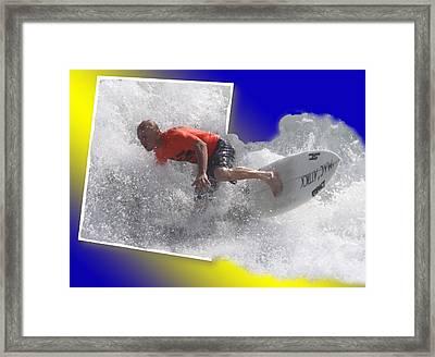 Surfer  Framed Print by Jeanne Andrews
