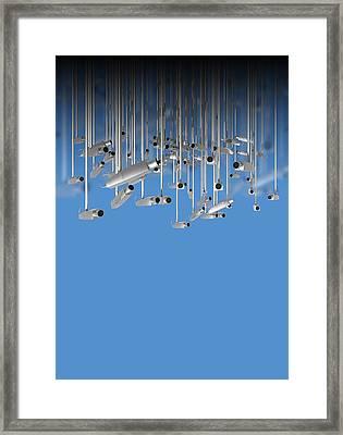 Surveillance, Conceptual Image Framed Print