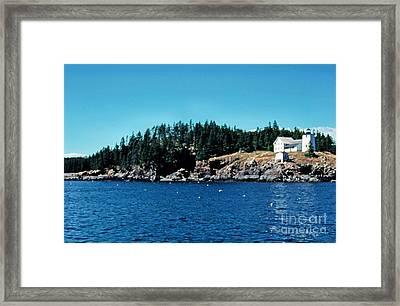 Swans Island Lighthouse Framed Print by Thomas R Fletcher