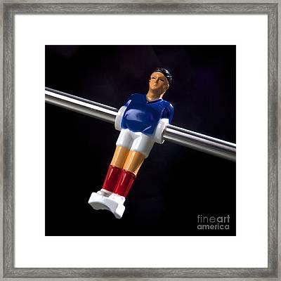 Tabletop Soccer Figurine Framed Print