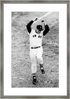 Ted Williams Of The Boston Red Sox Framed Print by Everett