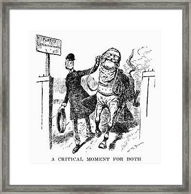 Teddy Roosevelt Cartoon Framed Print by Granger