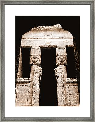 Temple Of Hathor Framed Print by Photo Researchers, Inc.