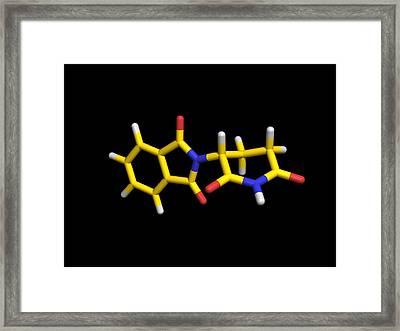 Thalidomide Drug Molecule Framed Print by Dr Tim Evans