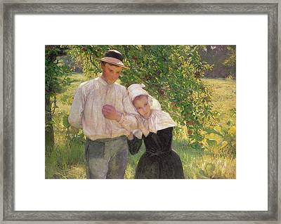 The Convalescent Framed Print by Max Kurzweil