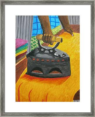 The Dhobi's Iron  Framed Print by Adam Wai Hou