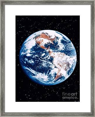 The Earth Framed Print by Stocktrek Images