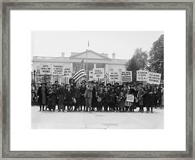 The Espionage Act Of 1917 And Sedition Framed Print by Everett