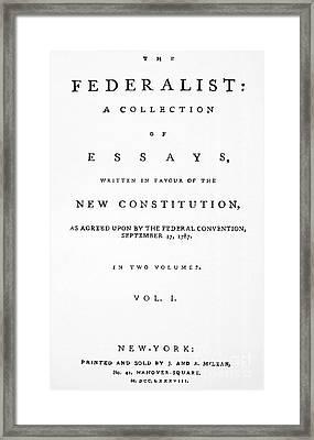 The Federalist, 1788 Framed Print