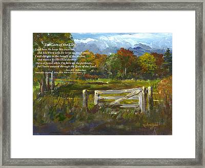 The Gate Of The Lord With Poem Framed Print