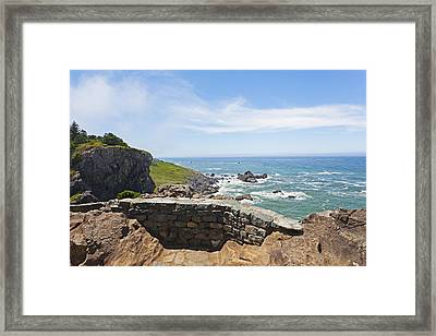 The Highway Route Us 101 Runs Framed Print