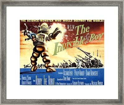 The Invisible Boy, Robby The Robot Framed Print by Everett