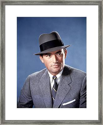 The Man In The Gray Flannel Suit Framed Print by Everett