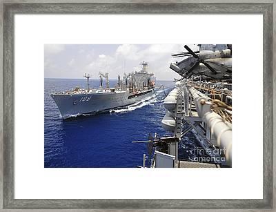 The Military Sealift Command Fleet Framed Print by Stocktrek Images
