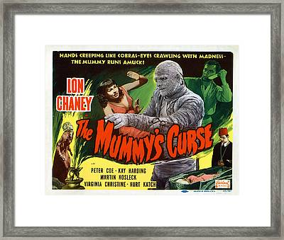 The Mummys Curse, Virginia Christine Framed Print