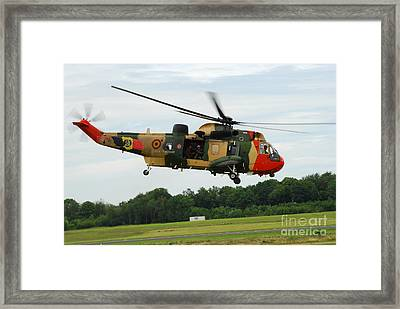 The Sea King Helicopter Of The Belgian Framed Print by Luc De Jaeger