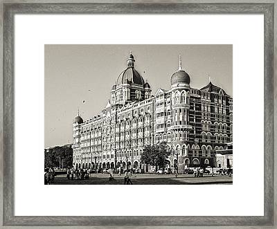 The Taj Mahal Palace Hotel Framed Print by Benjamin Matthijs