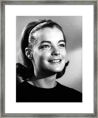 The Victors, Romy Schneider, 1963 Framed Print