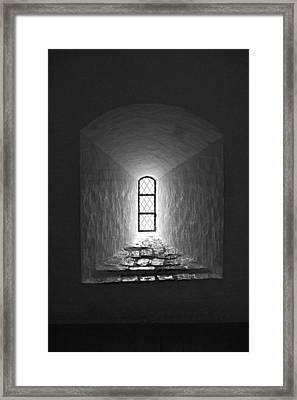The Window Of The Castle Of Tavastehus Framed Print by Jouko Lehto