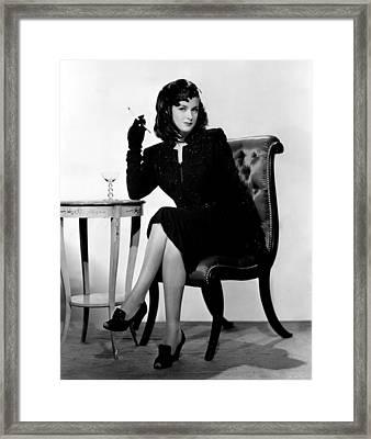 The Woman In The Window, Joan Bennett Framed Print by Everett