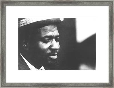 Thelonius Monk 1917-1982jazz Pianist Framed Print by Everett