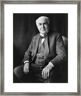 Thomas A. Edison 1847-1931 Framed Print