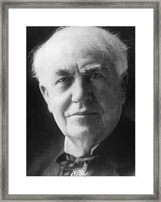 Thomas Alva Edison 1847-1931 Framed Print by Everett