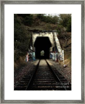 Train Tunnel At The Muir Trestle In Martinez California . 7d10220 Framed Print by Wingsdomain Art and Photography