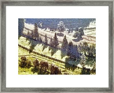 Transylvania Landscape Framed Print by Odon Czintos