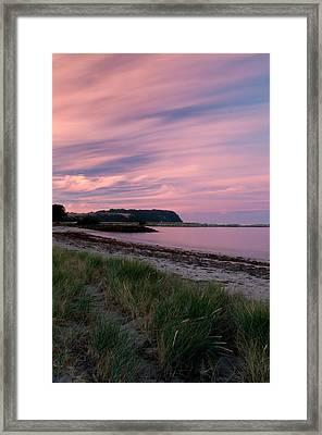 Twilight After A Sunset At A Beach Framed Print by Ulrich Schade