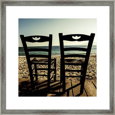 Two Chairs Framed Print by Joana Kruse