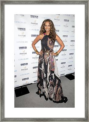 Tyra Banks At Arrivals Framed Print by Everett