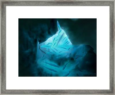 Framed Print featuring the mixed media Undersea Cave by Steed Edwards
